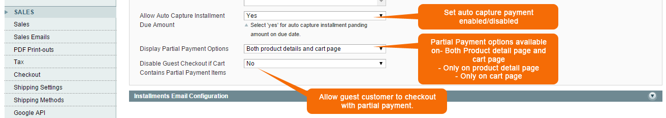 Admin can allow the guest user for Partial Payment