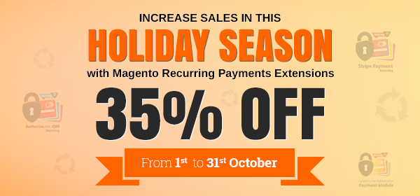 35% Discount for the 2015 Holiday Season