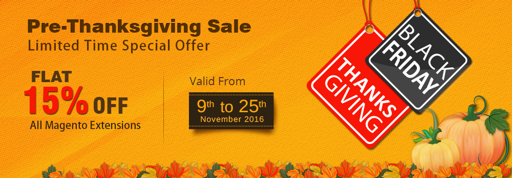 Thanksgiving Offer on Magento Extensions